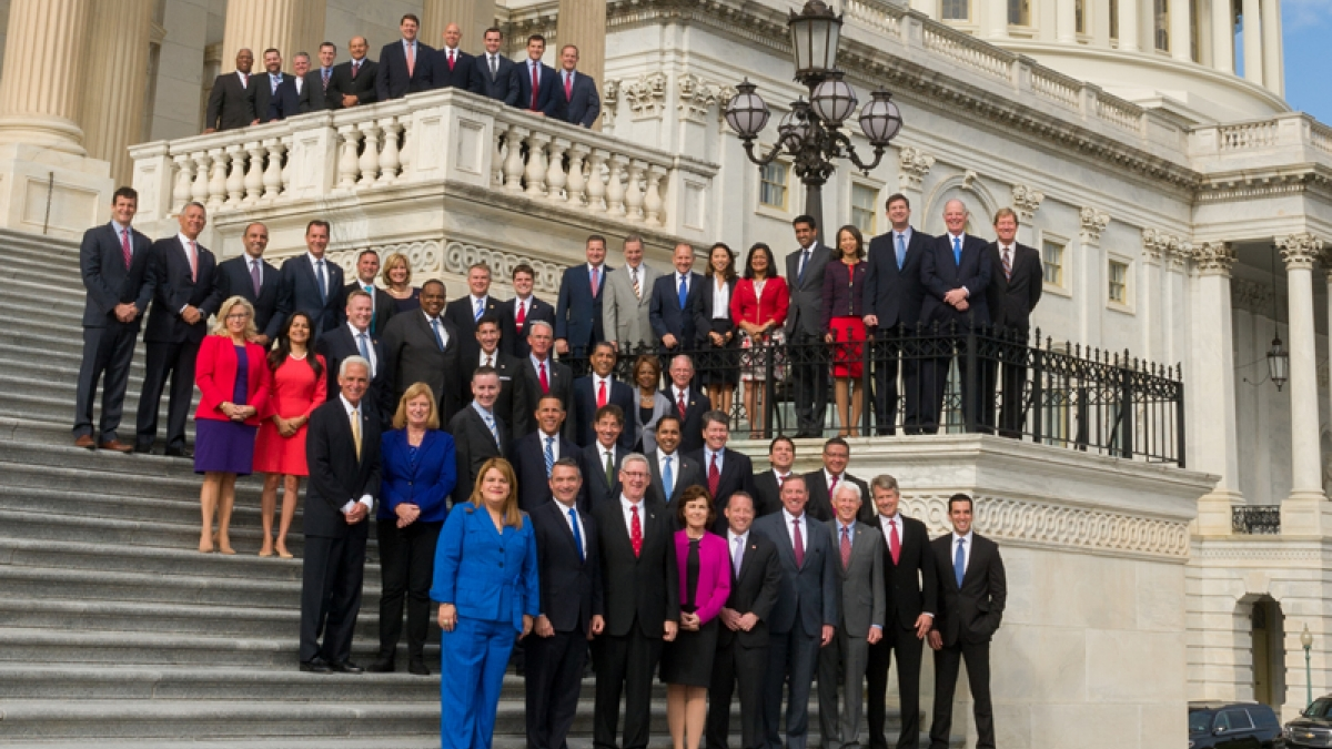 Freshmen Members of the 115th Congress at the U.S. Capitol